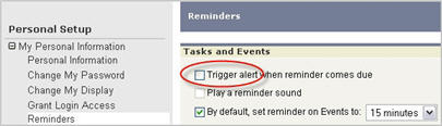 Turning off reminders
